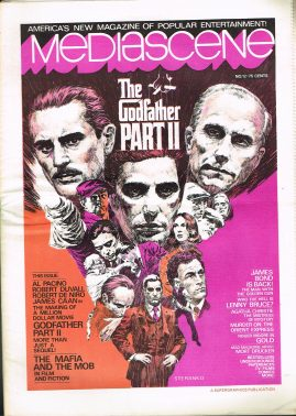 1975 MEDIASCENE March-April issue 12 American Entertainment paper magazine 32 pages refMag2S9 Roger Moore James Bond