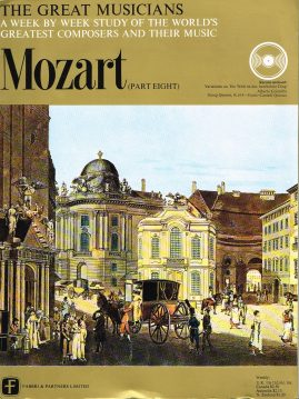 """The Great Musicians MOZART (part eight) 10"""" LP & Magazine Fabrri & Partners ref61 Very Good Condition. Each LP is 10"""" and 33rpm Details of record enclosed shown on front cover. Please see photo and full description."""