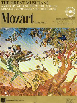 """The Great Musicians MOZART (part nine) 10"""" LP & Magazine Fabrri & Partners ref62 Very Good Condition. Each LP is 10"""" and 33rpm Details of record enclosed shown on front cover. Please see photo and full description."""