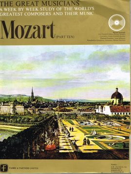 """The Great Musicians MOZART (part ten) 10"""" LP & Magazine Fabrri & Partners ref63 Very Good Condition. Each LP is 10"""" and 33rpm Details of record enclosed shown on front cover. Please see photo and full description."""