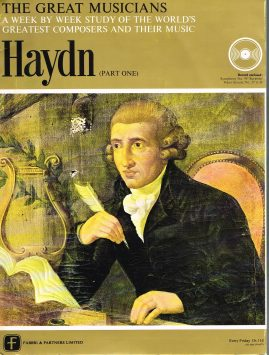 """The Great Musicians HAYDN (part one) 10"""" LP & Magazine Fabrri & Partners ref64 Very Good Condition. Each LP is 10"""" and 33rpm Details of record enclosed shown on front cover. Please see photo and full description."""