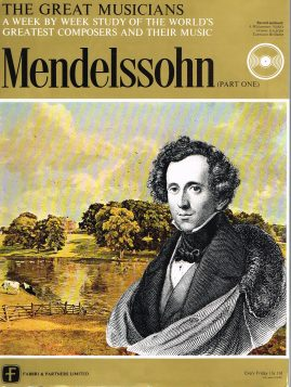"""The Great Musicians MENDELSSOHN (part one) 10"""" LP & Magazine Fabrri & Partners ref68 Very Good Condition. Each LP is 10"""" and 33rpm Details of record enclosed shown on front cover. Please see photo and full description."""