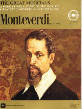 """The Great Musicians MONTEVERDI (part one) 10"""" LP & Magazine Fabrri & Partners ref72 Very Good Condition. Each LP is 10"""" and 33rpm Details of record enclosed shown on front cover. Please see photo and full description."""