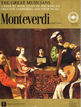 """The Great Musicians MONTEVERDI (part two) 10"""" LP & Magazine Fabrri & Partners ref73 Very Good Condition. Each LP is 10"""" and 33rpm Details of record enclosed shown on front cover. Please see photo and full description."""