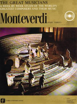 """The Great Musicians MONTEVERDI (part three) 10"""" LP & Magazine Fabrri & Partners ref74 Very Good Condition. Each LP is 10"""" and 33rpm Details of record enclosed shown on front cover. Please see photo and full description."""
