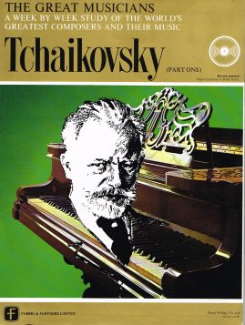 """The Great Musicians TCHAIKOVSKY (part one) 10"""" LP & Magazine Fabrri & Partners ref75 Very Good Condition. Each LP is 10"""" and 33rpm Details of record enclosed shown on front cover. Please see photo and full description."""