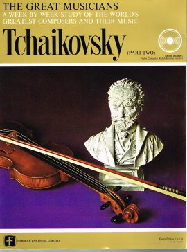 """The Great Musicians TCHAIKOVSKY (part two) 10"""" LP & Magazine Fabrri & Partners ref76 Very Good Condition. Each LP is 10"""" and 33rpm Details of record enclosed shown on front cover. Please see photo and full description."""