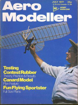 Aero Modeller Hobby Magazine July 1977 ref0015 Please see full decription and photo for details.