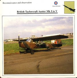 British Taylorcraft Auster Mk1 to V Reconnaissance and observation GB Military Aircraft Collectors Card refP6 This vintage collectors card is in Very Good Condition for age. Please read the full description and see photo.