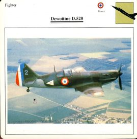 Dewoitine D.520 Fighter France Military Aircraft Collectors Card refP6 This vintage collectors card is in Very Good Condition for age. Please read the full description and see photo.