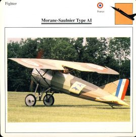 Morane-Saulnier Type AI Fighter France Military Aircraft Collectors Card refP6 This vintage collectors card is in Very Good Condition for age. Please read the full description and see photo.