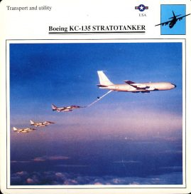 Boeing KC-135 STRATOTANKER Transport and utility USA Military Aircraft Collectors Card refP6 This vintage collectors card is in Very Good Condition for age. Please read the full description and see photo.