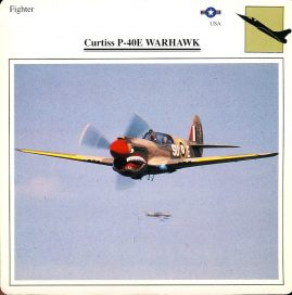 Curtiss P-40E WARHAWK Fighter USA Military Aircraft Collectors Card refP6 This vintage collectors card is in Very Good Condition for age. Please read the full description and see photo.