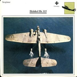 HEINKELL He 115 Seaplane Germany Military Aircraft Collectors Card refP6 This vintage collectors card is in Good Condition for age. Please read the full description and see photo.