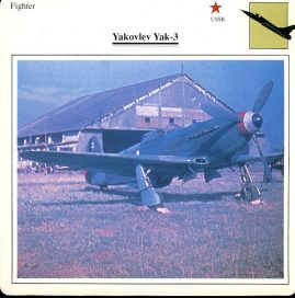 Yakolev Yak-3 Fighter USSR Military Aircraft Collectors Card refP6 This vintage collectors card is in Very Good Condition for age. Please read the full description and see photo.