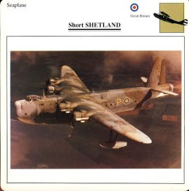 Short SHETLAND Seaplane Great Britain Military Aircraft Collectors Card refP6 This vintage collectors card is in Very Good Condition for age. Please read the full description and see photo.