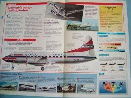 Aircraft of the World Card 13 CONVAIR CV 240-CV 440