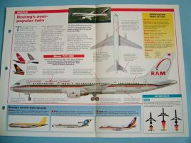 Aircraft of the World Card 21 BOEING Model 757