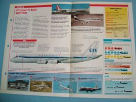 Aircraft of the World Card 23 CONVAIR 880 and 990
