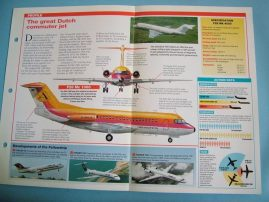 Aircraft of the World Card 29 FOKKER F28 Fellowship