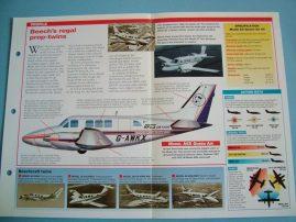Aircraft of the World Card 58 BEECHCRAFT 65 Queen Air liner