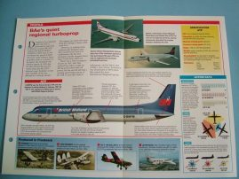 Aircraft of the World Card 79 BRITISH AEROSPACE ATPJetstream 61 airliner