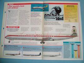 Aircraft of the World Card 8 DH.106 Comet De Havilland