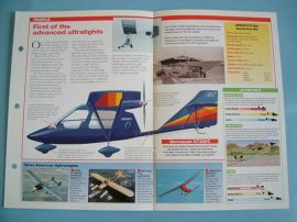 Aircraft of the World FLYING FOR FUN Card 22 Eipper QUICKSILVER microlight