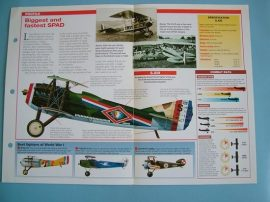 Aircraft of the World VINTAGE VETERAN Card 40 SPAD SXIII biplane fighter