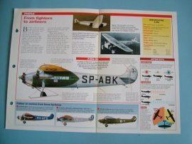 Aircraft of the World VINTAGE VETERAN Card 58 Fokker FVII inter war airliner
