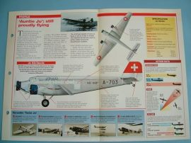 Aircraft of the World VINTAGE VETERAN Card 8 Junkers Ju 52   3 engine transport