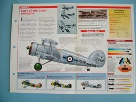 Aircraft of the World VINTAGE VETERAN Card 85 Gloster GAUNTLET RAF fighter