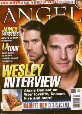ANGEL (Buffy) magazine Oct 2003 no.2 Wesley Alexis Deinsof. Very Good Used Condition. This magazine has been read and has some light page turn creases.  refB19
