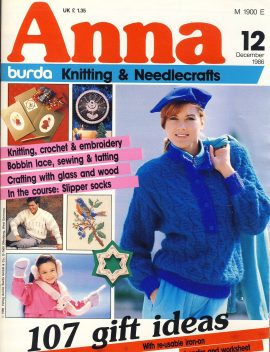 A vintage knitting and needlecrafts magazine produced by burda. Contains patterns & supplements in English. In fair condition.