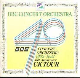 BBC Concert Orchestra 1992 40th Anniversary UK Tour programme with some great vintage adverts. Good used condition. This is a vintage Theatre programme. Please read full description and see large photo. C458