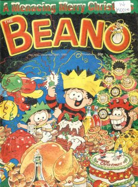 1998 December 26th CHRISTMAS BEANO vintage comic Good Gift Christmas Present Birthday Anniversary ref14 A vintage comic in good read condition. Label on cover. Please see larger photo and full description for details.