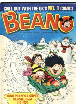 1999 January 23rd BEANO vintage comic Good Gift Christmas Present Birthday Anniversary ref16 A vintage comic in very good read condition. Writing on cover. Please see larger photo and full description for details.