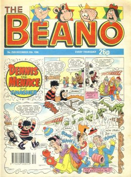 1990 December 29th BEANO vintage comic Good Gift Christmas Present Birthday Anniversary ref17 A vintage comic in good read condition. Please see larger photo and full description for details.
