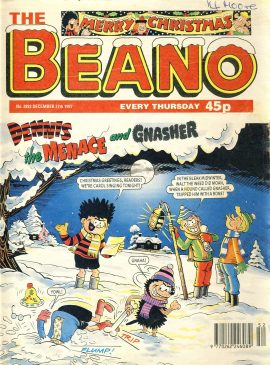 1997 December 27th BEANO vintage comic Good Gift Christmas Present Birthday Anniversary ref19 A vintage comic in acceptable read condition. Please see larger photo and full description for details.