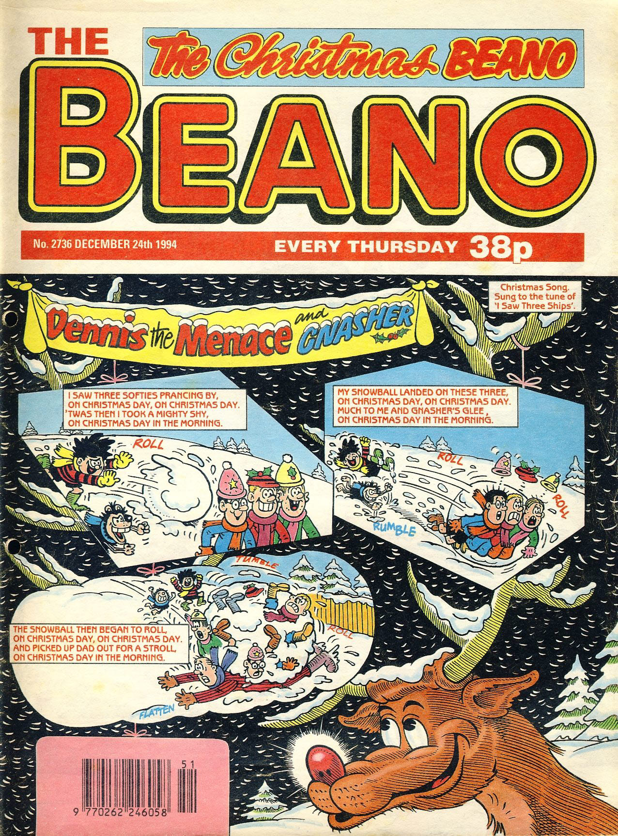 1994 December 24th CHRISTMAS BEANO vintage comic Good Gift Christmas Present Birthday Anniversary ref20 A vintage comic in good read condition. Please see larger photo and full description for details.