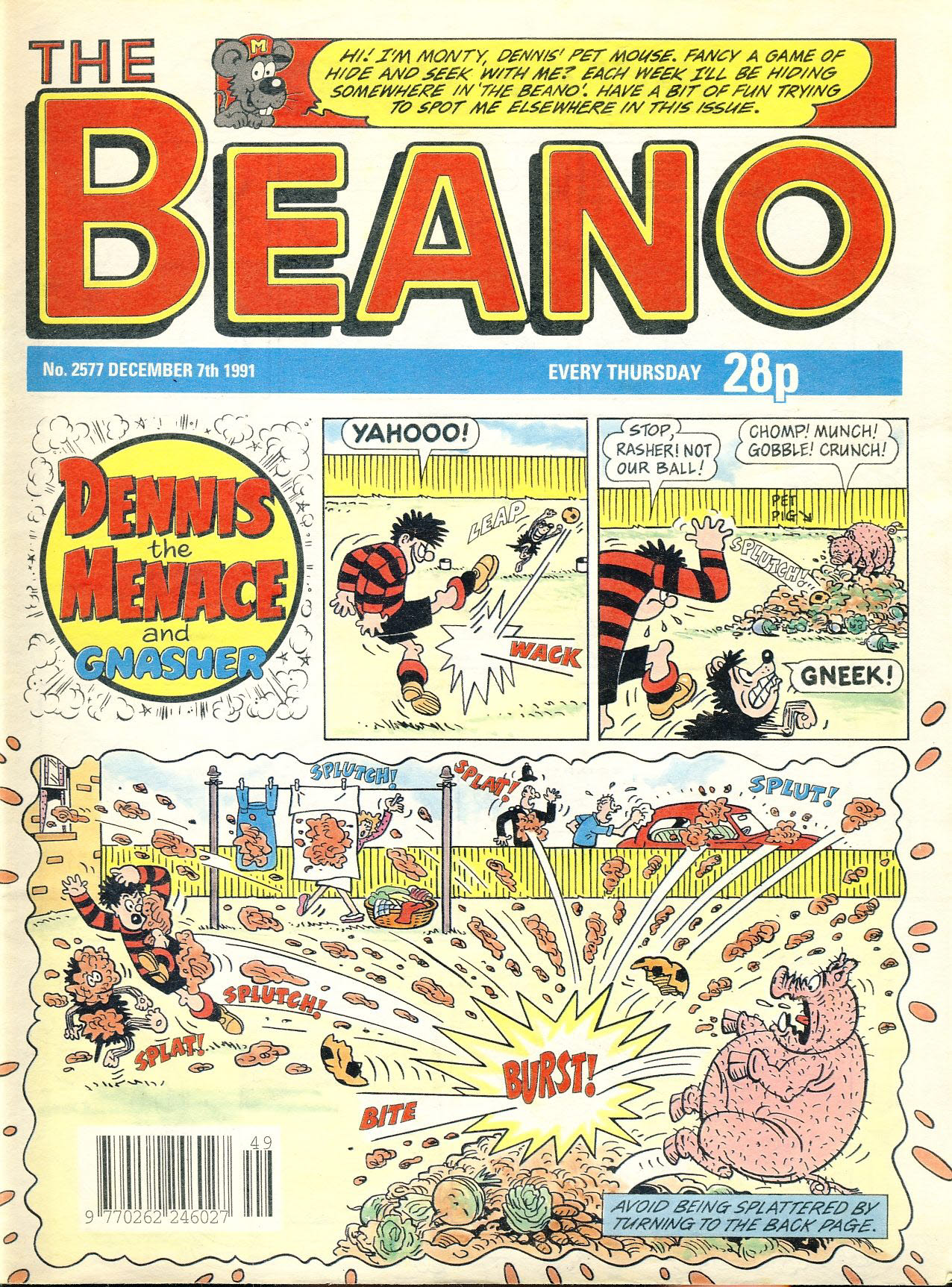 1991 December 7th BEANO vintage comic Good Gift Christmas Present Birthday Anniversary ref4 A vintage comic in good read condition. Please see larger photo and full description for details.
