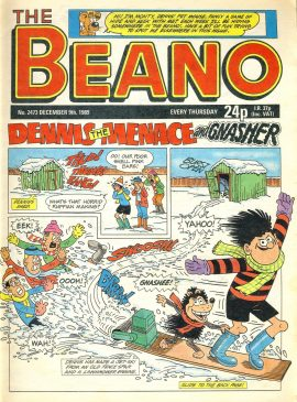 1989 December 9th BEANO vintage comic Good Gift Christmas Present Birthday Anniversary ref7 A vintage comic in good read condition. Please see larger photo and full description for details.