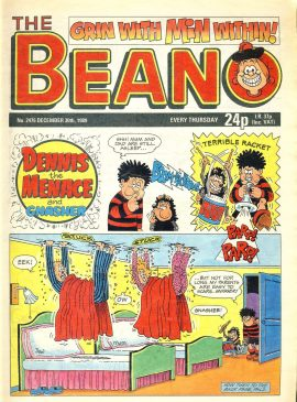 1989 December 30th BEANO vintage comic Good Gift Christmas Present Birthday Anniversary ref8 A vintage comic in good read condition. Please see larger photo and full description for details.