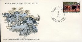 The Cape Buffalo Africa BRAZZAVILLE CONGO Stamp World Wildlife Fund First Day Cover FDC refWWF60 Stamp Cover with information paper regarding cover topic.  A vintage lightweight cover in very good condition. Please see larger photo and full description for details.