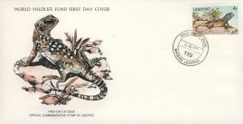 Agama Atra Lizard Africa MASERU LESOTHO 1979 Stamp World Wildlife Fund First Day Cover FDC refWWF71 Stamp Cover with information paper regarding cover topic.  A vintage lightweight cover in very good condition. Please see larger photo and full description for details.