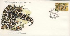 The Ringhals cobra snake Africa MASERU LESOTHO 1979 Stamp World Wildlife Fund First Day Cover FDC refWWF72 Stamp Cover with information paper regarding cover topic.  A vintage lightweight cover in very good condition. Please see larger photo and full description for details.