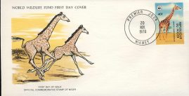 The Giraffe REPUBLIC OF NIGER 1978 Stamp World Wildlife Fund First Day Cover FDC refWWF45 Stamp Cover with information paper regarding cover topic.  A vintage lightweight cover in very good condition. Please see larger photo and full description for details.
