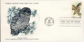 The Barred Owl bird FAIRBANKS ALASKA 1978 Stamp World Wildlife Fund First Day Cover FDC refWWF47 Stamp Cover with information paper regarding cover topic.  A vintage lightweight cover in very good condition. Please see larger photo and full description for details.