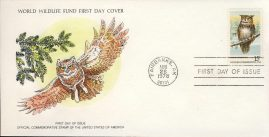 The Great Horned Owl bird FAIRBANKS ALASKA 1978 Stamp World Wildlife Fund First Day Cover FDC refWWF48 Stamp Cover with information paper regarding cover topic.  A vintage lightweight cover in very good condition. Please see larger photo and full description for details.