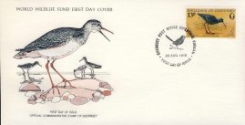 The Spotted Redshank bird GUERNSEY 1978 Stamp World Wildlife Fund First Day Cover FDC refWWF49 Stamp Cover with information paper regarding cover topic.  A vintage lightweight cover in very good condition. Please see larger photo and full description for details.